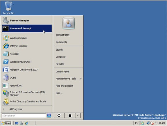 windows server 2008 operating system